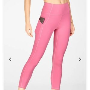 BRAND NEW Pink Fabletics High Waisted Leggings